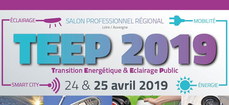 Salon professionnel régional du SIEL 42 : transition énergétique et éclairage public TEEP 2019 avec l'agence Cloee