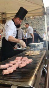 Barbecue d'été au château de Montrond-les-Bains avec l'agence CLOEE